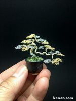 Little two-color semi-cascade wire bonsai tree by KenToArt