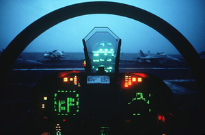 f-18 cockpit by AAOA