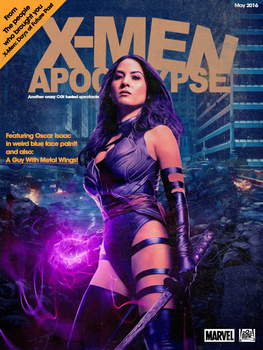 Psylocke ''Heavy Metal'' magazine cover by NiteOwl94