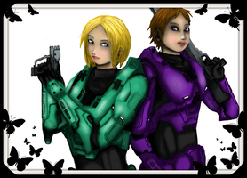 [Ready, Now?] Agents Alex and Casey by ReveLeViFleur