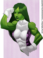She-Hulk by felle2thou by elee0228