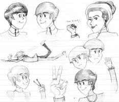 Beatles sketches by PsychedelicHippie