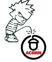 calvin pissing on acorn by bagera3005