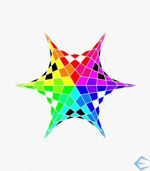 Color Wheel Star by eriklectric