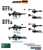 Concept Weapons GLN MG7 For SSMU Pixel Art by Luckymarine577