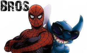 Bros Stitch and Spidey by RyLeeLouis