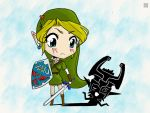 Link and Midna by reddishpirate0614