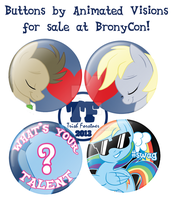 Buttons for BronyCon by nanook123