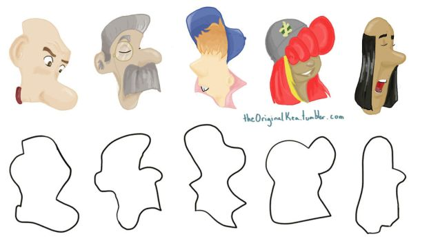 Character Design Shape Challenge : Karzykyle the man with many names deviantart