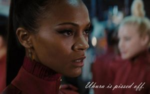 Pissed Uhura Wallpaper by WhirlwindofEmotion