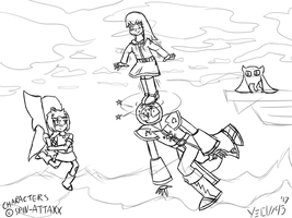 Settling It In Smash! (Spin Attaxx Art Trade) WIP by Yeow95