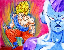 Goku vs Frieza by Jaylastar