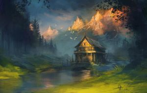 Lonely Hut by jcbarquet