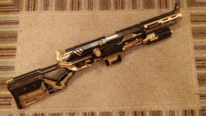 Steampunk Longstrike Rifle by Darquesyde77
