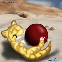 Pokemon Challenge 027-sandshrew by midgear