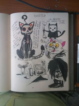 another day of the dead sketching 2016 by LaRhsReBirTh