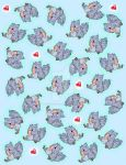 Shy Dodo bird Patterns! by DonivanessDoodles