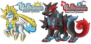 Saytoh Legendaries Pegazeus and Cerberades by PokemonMasta