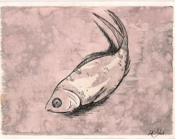 sad fish by pleuvoiretstatique