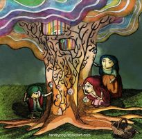 voice over the tree- hendryong by childrensillustrator
