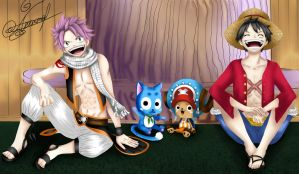 Crossover: Fairy tail and One Piece by AlexandraAvetta
