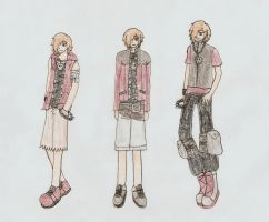 Kye's Kingdom Hearts Outfits by MiniPandaGirl