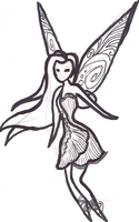 Silvermist Tinkerbell Coloring Page by Utaleasha