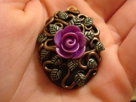 Purple Rose Locket by CharpelDesign