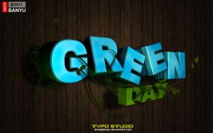 Green Day typo by alangbanyu