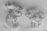 Commission - Freya and Skya by LolloTheVaporeon