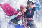 Kristoff and Anna Cosplay by Phadme