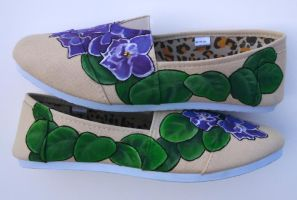 Affordable Brand Violet Painted Shoes by Ceil