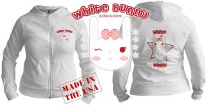 white bunny hoodie by Lucora