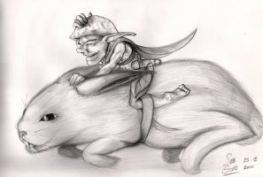 The Pixie as a Rabbit-Rider by SebGobb