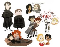 asoiaf - doodles 5 by spoonybards