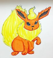 Eeveelution- Flareon by MousieDoodles