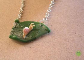 Snail necklace - 04 by nunyArt