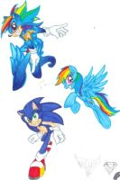 Super Sonic Rainbow DASH! by DgShadowChocolate