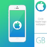 Circle Apple logo wallpaper by kamen911
