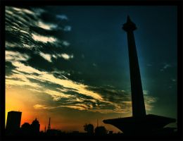 monas when the sun going down by sikabayan