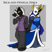 Rick and Ophelia Zebus by DordtChild