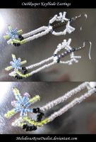 Oathkeeper Keyblade Earrings by MelodiousRoseDuelist