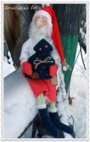 Primitive Santa Doll by AnastasiasArts