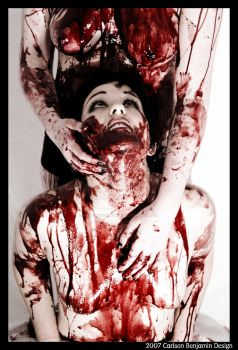 bloody kisses by Hollywoodisburning