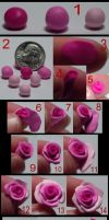 Tutorial - Polymer clay roses by Catgoyle