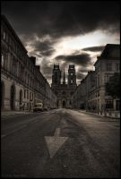 One Way Street HDR by nfilipevs