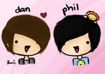 danisnotonfire and amazingphil by Clawissa