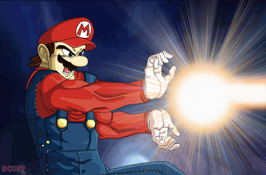 Super Mario Dragonball Z by redchaos187