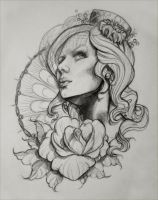 Tattoo Design Sketch 1 by illogan