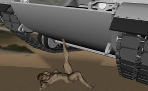 Linds lifts a tank wither her toes by mattb7